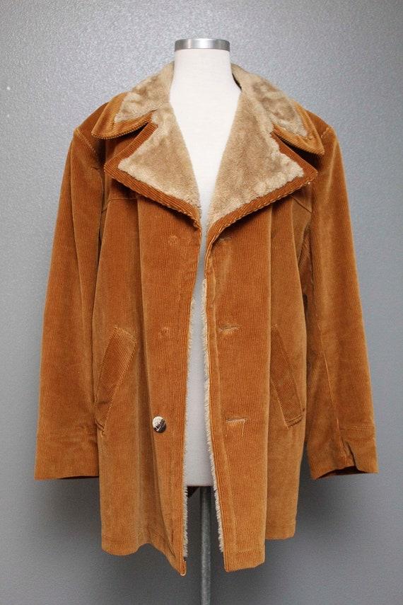 Fkvintage 1970s Corduroy Winter Coat by Cresco