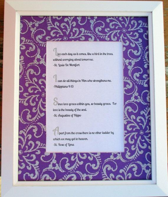 Purple Glitter plata personalizada nombre acróstico bebé | Etsy
