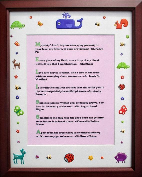 Arco iris criaturas personalizada nombre acróstico bebé | Etsy
