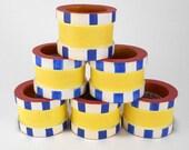 6 Villeroy Boch Twist Alea Limone Wooden Napkin Rings