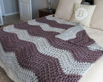 Chunky Blanket, Soft Crochet Blanket, Large Crochet Afghan, Soft Afghan, Soft Blanket, Soft Bedding, Accent Blanket, Chunky Crochet Blanket