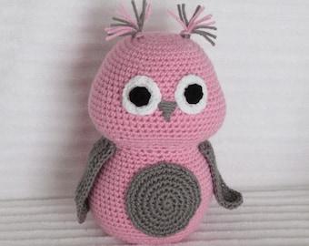 Crochet Owl Stuffed Animal, Crochet Animal, Owl Stuffed Animal, Owl Nursery Decor, Owl Plushy, Stuffed Owl, Owl Nursery, Girl Nursery