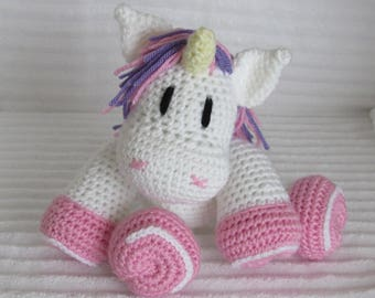 Crochet Unicorn, Unicorn Stuffed Animal, Unicorn Kids, Crochet Animal, Unicorn Plush, Unicorn Stuffie, Unicorn Nursery,