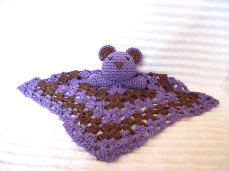 Ravelry: Lovey Blanket Bear Security Blanket Teddy pattern by Tatie | 595x794