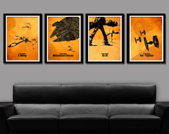 Force Inspired Minimalist Movie Poster Set