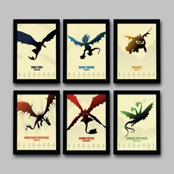 How to train your dragon inspired minimalist movie poster set etsy image 0 ccuart Gallery