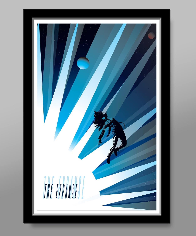 The Expanse Inspired Minimalist Original SyFy Series Poster | Etsy
