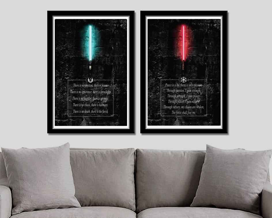 Jedi-Kodex VS Sith Code inspiriert Poster Set Druck 338 | Etsy