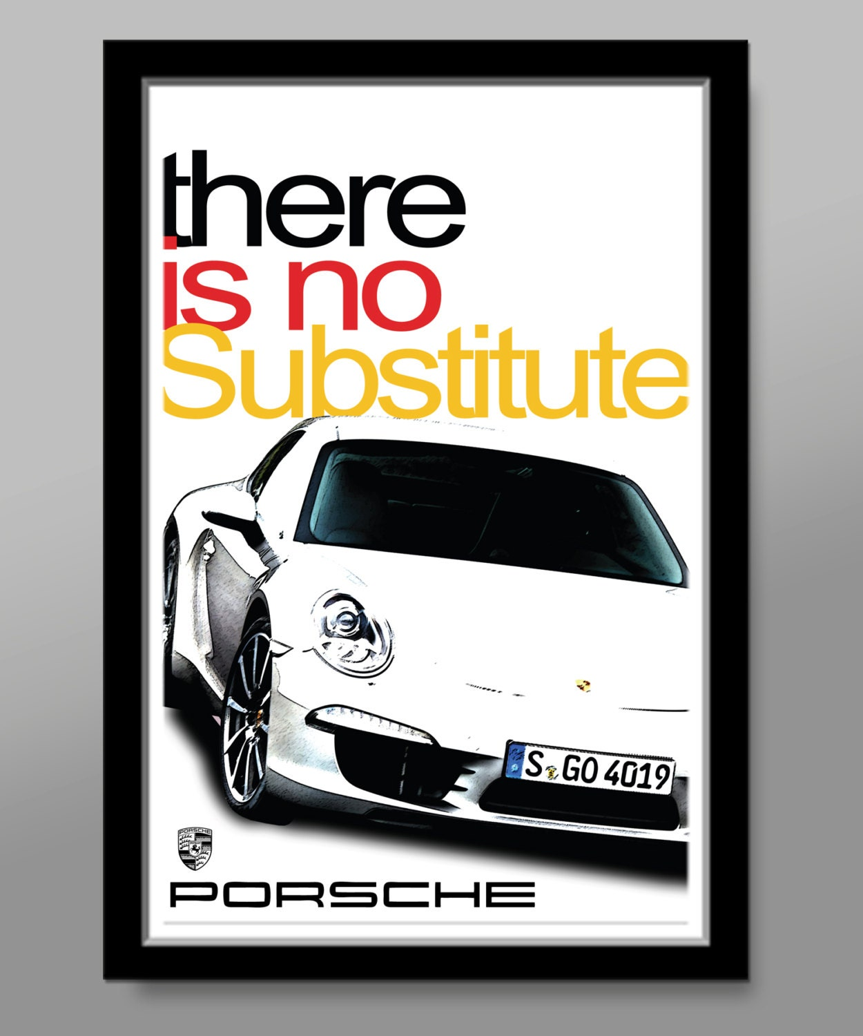 German 991 Sports Car There Is No Substitute Slogan | Etsy