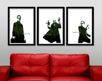 Matrix Inspired Minimalist Movie Poster Set - Home Decor