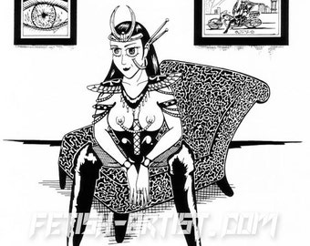 Mature: Cyber Dominatrix on Funky Chair