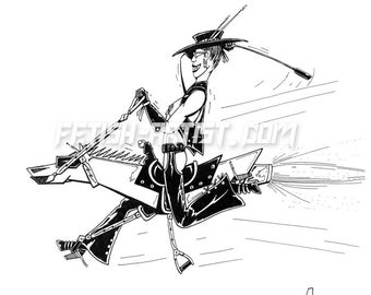 Mature Femdom Art: Ride'm Cowgirl