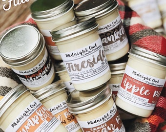 Fall & Winter Scented Soy Candles, Fall Candle Gift, Eco Friendly Candles, Housewarming Gifts for New Homeowner, New Home Gift, PICK 3!