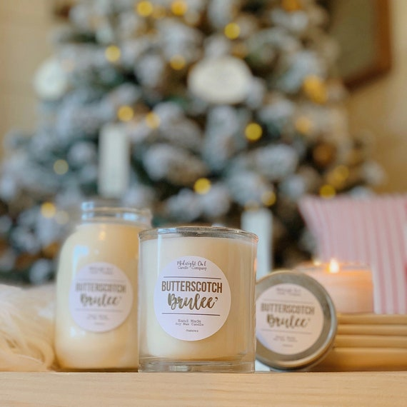Butterscotch Candle Butterscotch Brulee Scented Soy Candle Etsy