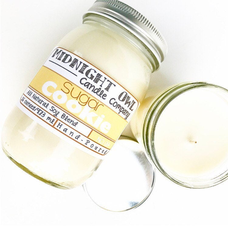 Sugar Cookie Candle 8oz or 16oz Mason Jar Candle scented ...