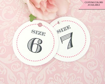 fb21120e18fb Flip flop tags - Flip flop size tags - Wedding flip flop tags - Flip flop  wedding tag