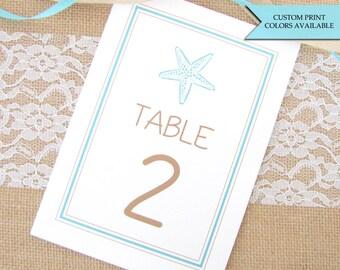 Beach wedding table numbers Tropical wedding AS-TR125 Tropical table numbers Printable table numbers Beach table numbers wedding 7-12