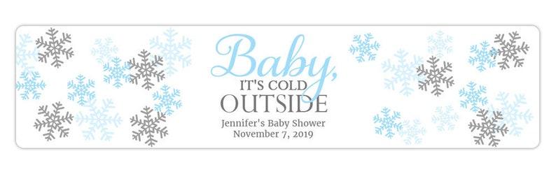 018WBL Baby its cold outside water bottle label Winter water bottle label