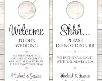 Wedding door hanger - Door hangers wedding - Do not disturb door hanger - Wedding door tag
