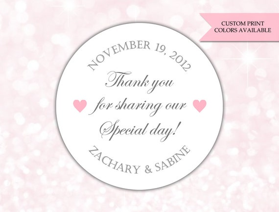 thank you for sharing our special day stickers wedding etsy