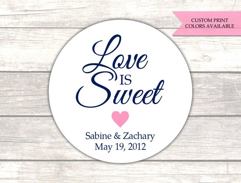 Love is sweet labels Love is sweet wedding sticker - RW006 Love is sweet stickers