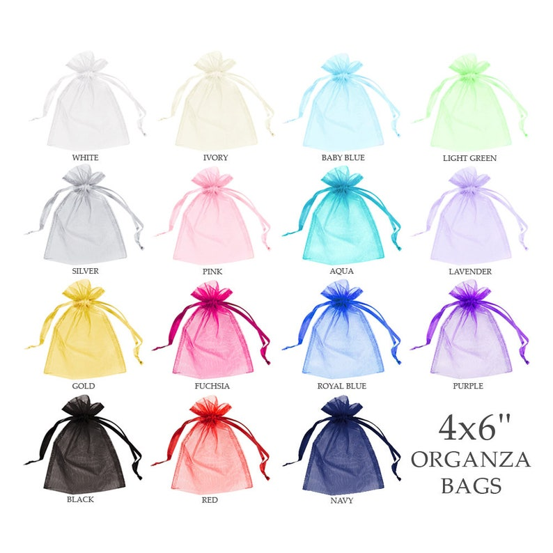 379060dcc47d Organza bags 4x6 (30) - Organza bags - Organza gift bags - Sheer bags -  Wedding favor bag - Drawstring bag - Jewelry pouch