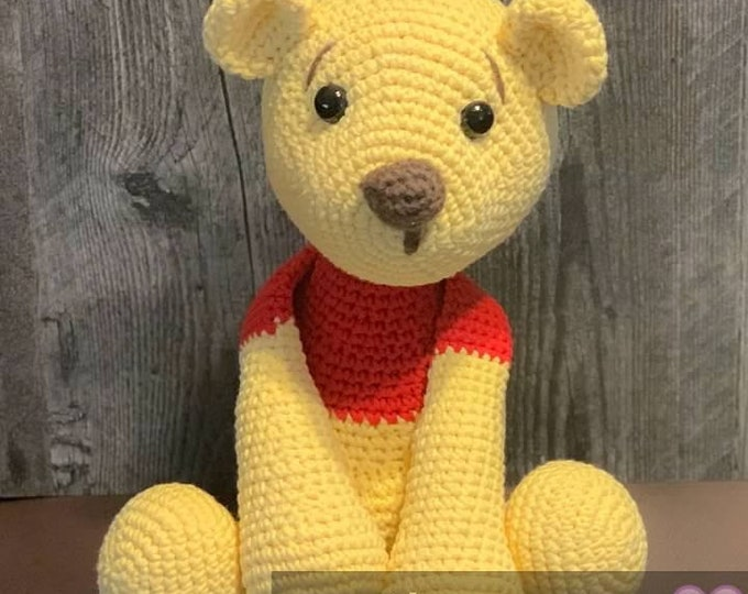 Ready to ship, Winnie the Pooh inspired, Pooh Bear, Amigurumi, stuffed animal