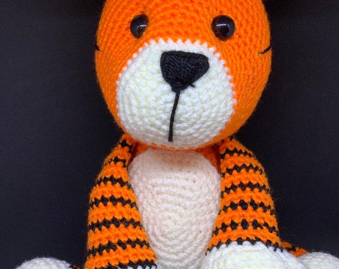 Cubby Tiger, Tiger Amigurumi, Soft Cuddler