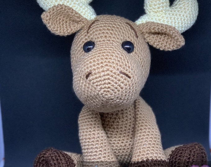 Cute supernatural fandom amigurumi moose, second edition