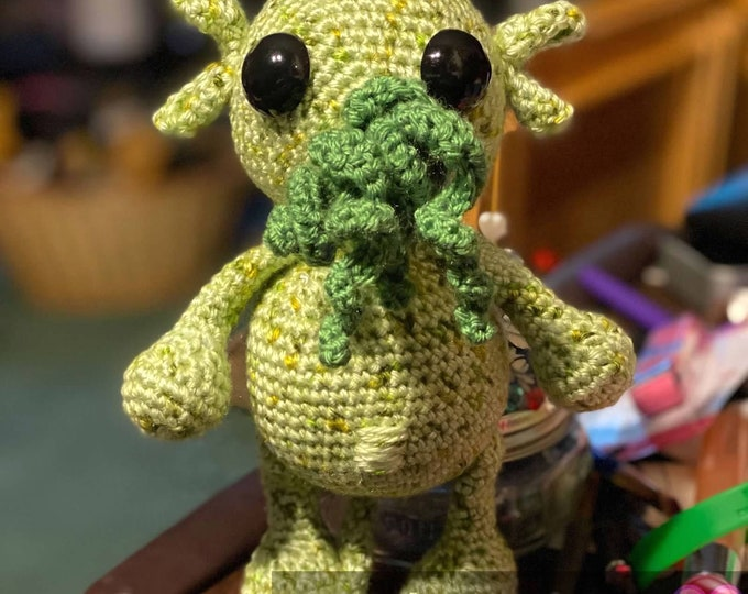 Ready to ship, Cthulhu, Lovecraft inspired, crochet, Amigurumi, plush