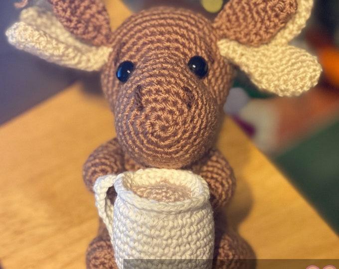 Made-to-order, Squ-Moose, amigurumi, crochet, stuffed animal, (squirrel/moose hybrid)