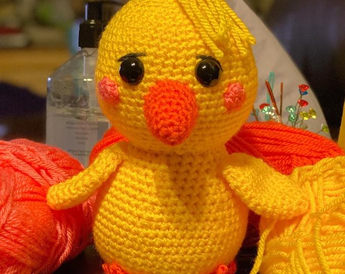 Ready to ship, Amigurumi crochet, stuffed chick, plush