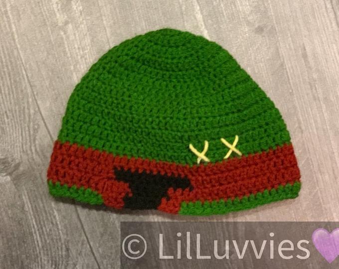 Boba Fett/Mandalorian inspired helmet beanie, crochet beanie, ready to ship
