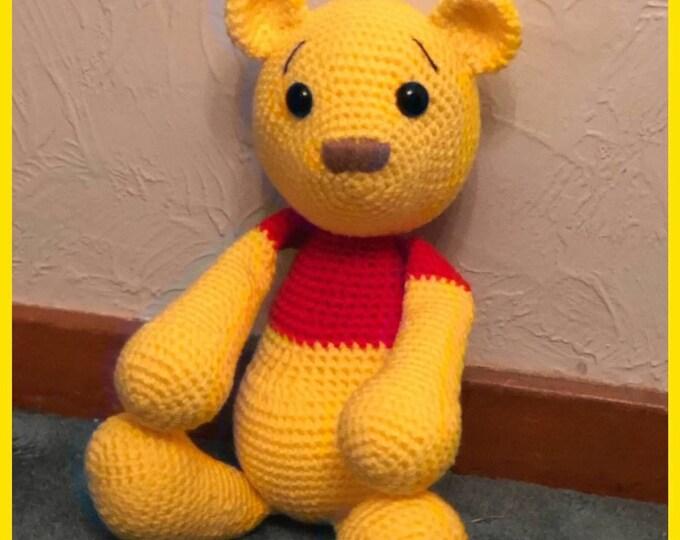 Winnie the Pooh, Pooh Bear Amigurumi, Cotton toy