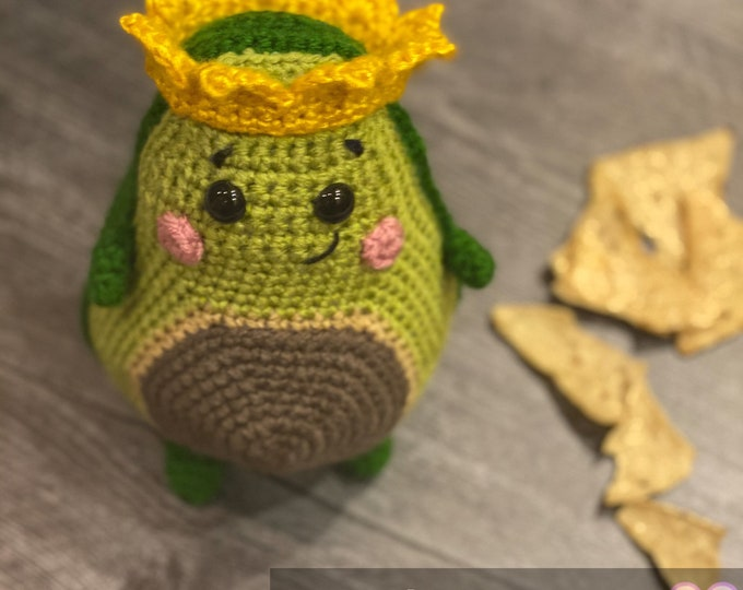 King Avocado, Made to order, Amigurumi, crochet, stuffed animal