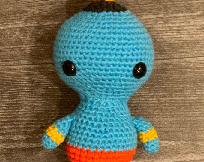 Ready to ship, Amigurumi, crochet stuffed genie, Aladdin inspired