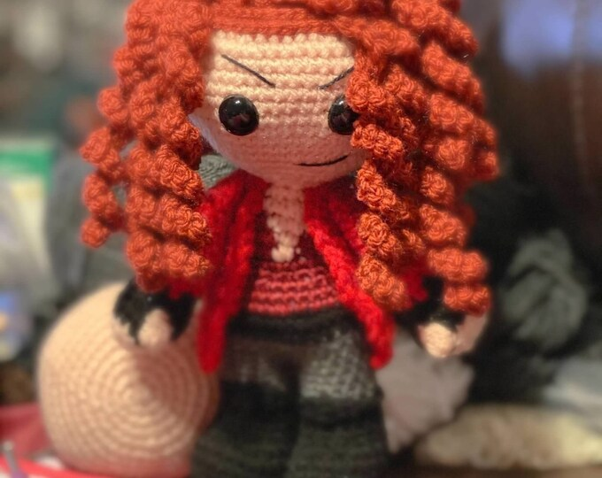 Made to order, Wanda Maximoff, Amigurumi, crochet, stuffed animal, plush