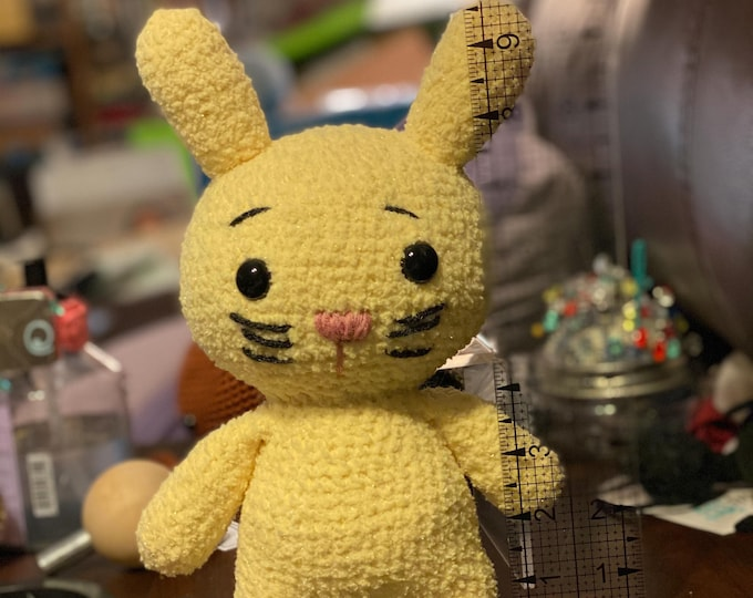Cuddly soft, Peepy Bunny, Ready to Ship, Amigurumi, crochet, stuffed animal