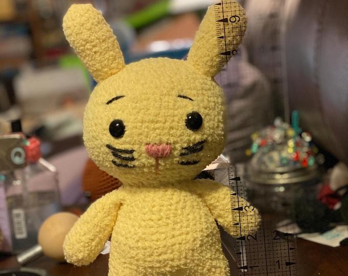 Cuddly soft, Peepy Bunny, Ready to Ship, Amigurumi, crochet, stuffed animal