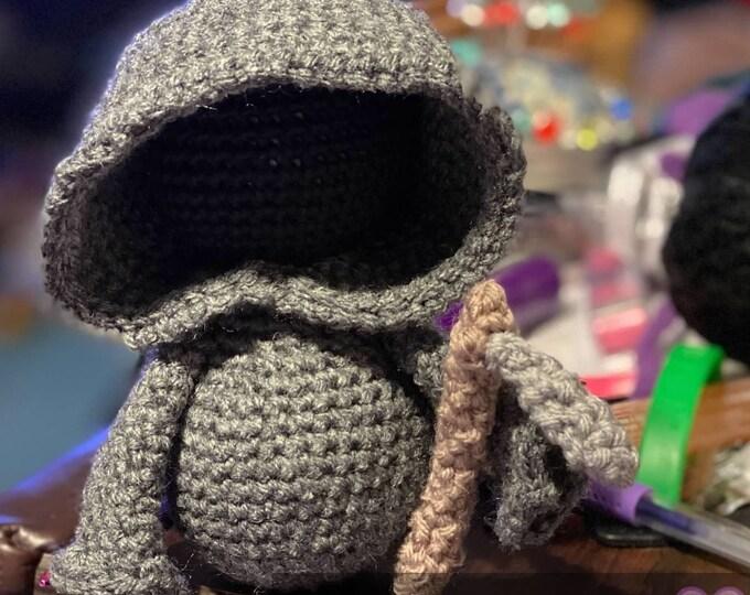 Ready to ship, Amigurumi, Grim Reaper, plush, crochet