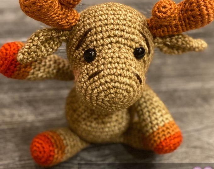 Ready to ship, Cute supernatural fandom amigurumi moose, mini edition