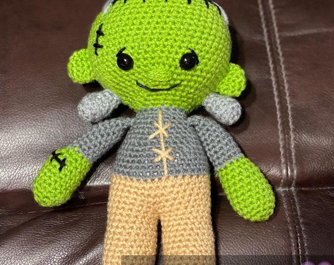 Ready to ship, Frankie, Frankenstein's monster, Halloween inspired Amigurumi, plush