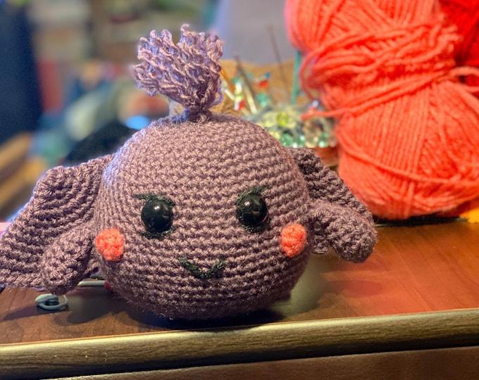 Ready to ship, winged alien monster, Amigurumi, crochet, plush, stuffed animal