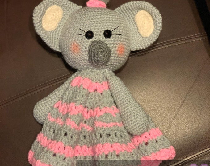 Cuddly koala, ready to ship, lovey blanket, cuddle blanket
