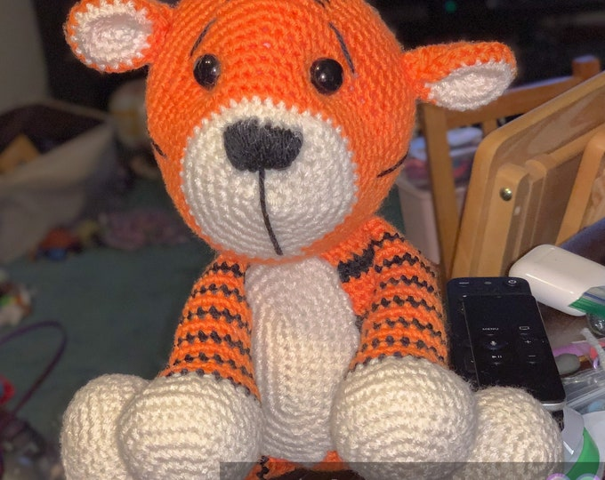 Ready to ship, Amigurumi, crochet, tiger