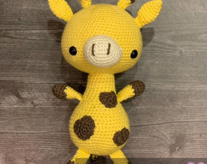 Made to order, Giraffe, Amigurumi, crochet, stuffed animal