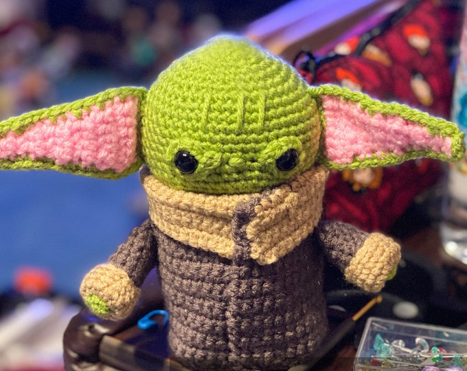 Baby Alien, ready to ship, amigurumi, crochet, stuffed toy
