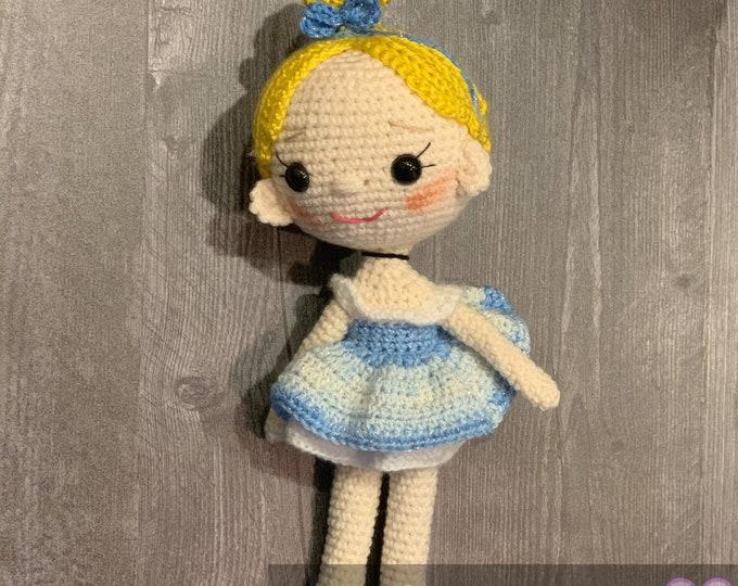 Cinderella, Ready to ship, Amigurumi Plushie
