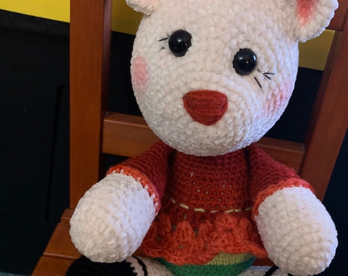 Ready to Ship, Velvet Plush, Little Miss Holly-Bear