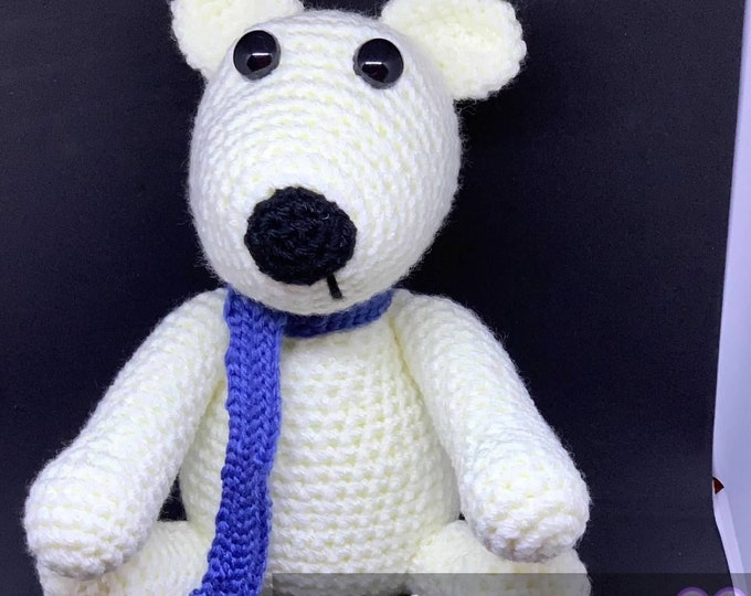 Ready to ship, Amigurumi stuffed polar bear